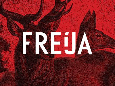 Freija red type logo