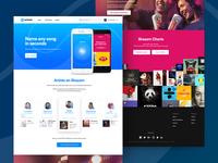 Shazam.com Homepage