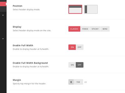 Redux Theme Options Panel - Full Mockup ui redux flat admin panel theme wordpress