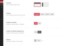 Redux Theme Options Panel - Full Mockup