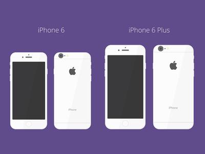 iPhone 6 / 6+ Flat Mockup iphone iphone 6 flat mockup vector ai illustrator