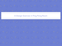 Ping Pong Pattern