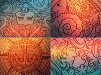 Set of Nautical Illustrations