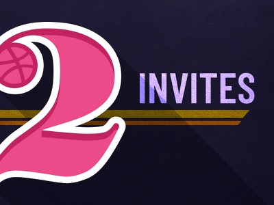 2 Invites typography type two 2 dribbble draft invitation invite