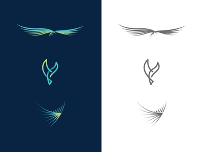 Bird Logo Mark Rejects logo fly dove eagle wing feather abstract bird