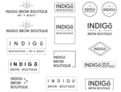 Indigo Brow Boutique Logo Ideas modern design modernism modern minimalism beauty logo salon logo logo design beauty salon brows eyebrows logo