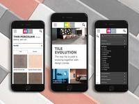 Mobile website design and filtering