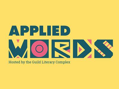 Applied Words Logo branding colorful pattern art poster logo