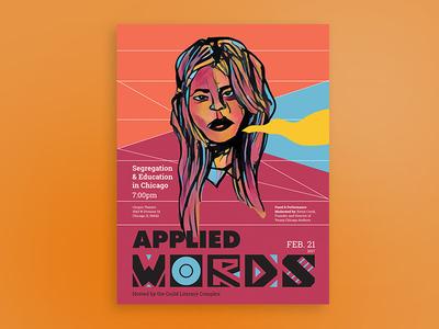 Applied Words // Feb. 2017 typography art women education logo posterdesign poster