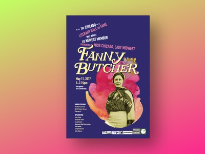 Fanny Butcher Poster painting chicago design chicago typography poetry women poster design logo collage poster