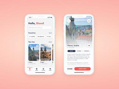 Explore world   Travel app design ui ux ios app