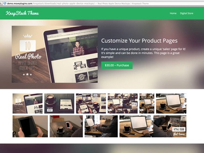 Knapstack Theme Demo - Single Page wordpress e-commerce theme free flat