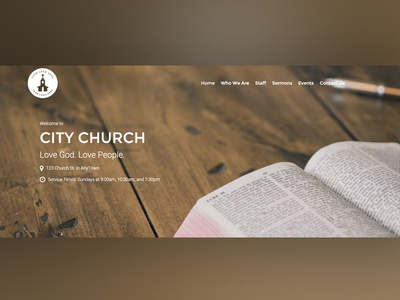 Typography for WordPress Church Theme church webdesign typography wordpress
