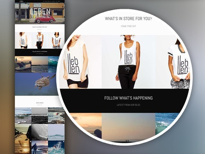 """Lifestyle"" Website - Home Page Layout hipster lifestyle website adventure website surf shop website t-shirt shop e-commerce ecommerce lifestyle wordpress"
