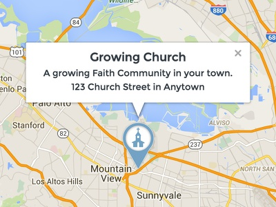 Custom Church Pin Icon church pin location pins theme wordpress church marker locator icon map