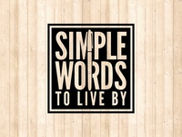 Simple Words To Live By logo