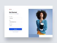 Sign Up branding design website web minimal blue ux ui clean creative