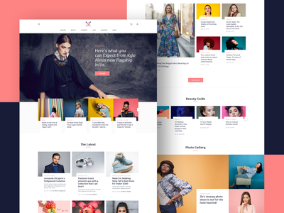 Lifestyle Magazine Landing Page creative horoscope makeup style models shopping trends celebrity love magazine lifestyle website web langing page design clean ux ui fahion beauty