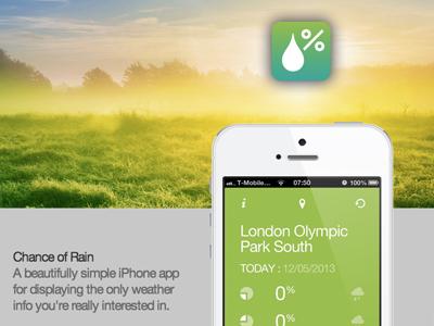 Chance of rain web page weatherapp iphone app weather rain holding page
