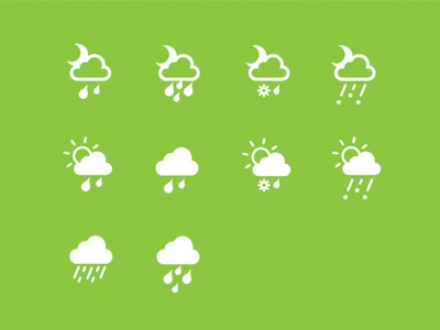 Chance of rain weather icons preview app icons weather