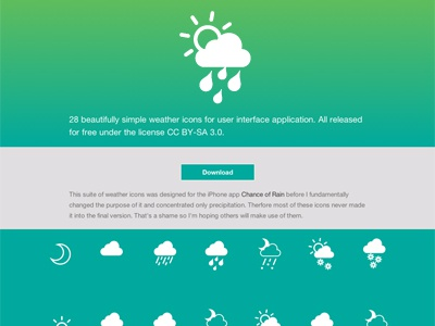 Weather Icons By Jamie Reynolds weather icons chance of rain