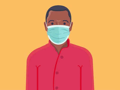 Wear a mask illustration africa kenya illustrator illustraion covid-19 corona coronavirus
