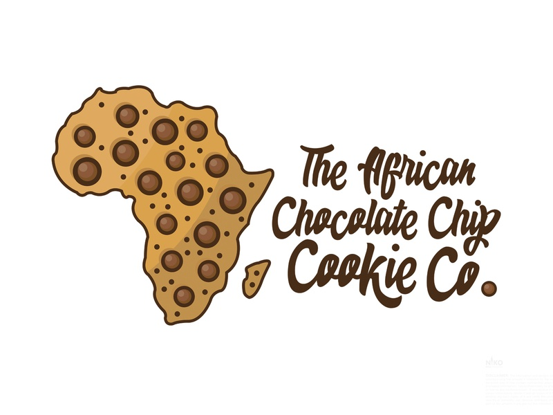 Day 22  The African Chocolate Cookie Co logo design challenge logo design concept logo design logo