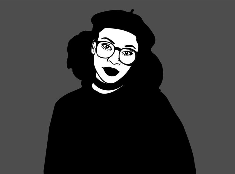 B&W Minimal Portrait graphic design graphicdesign kenya portrait illustraion