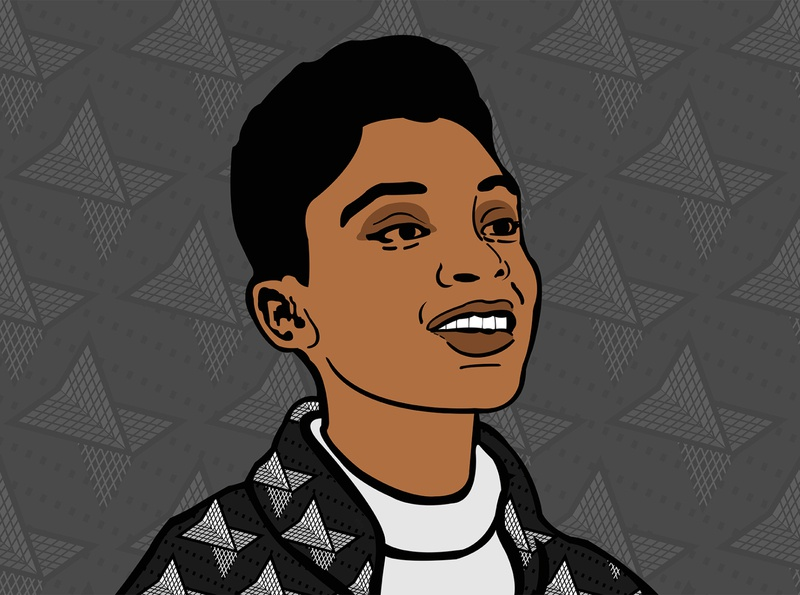 Millennial African Woman illustraion african africa kenya graphicdesgn graphic design illustrator