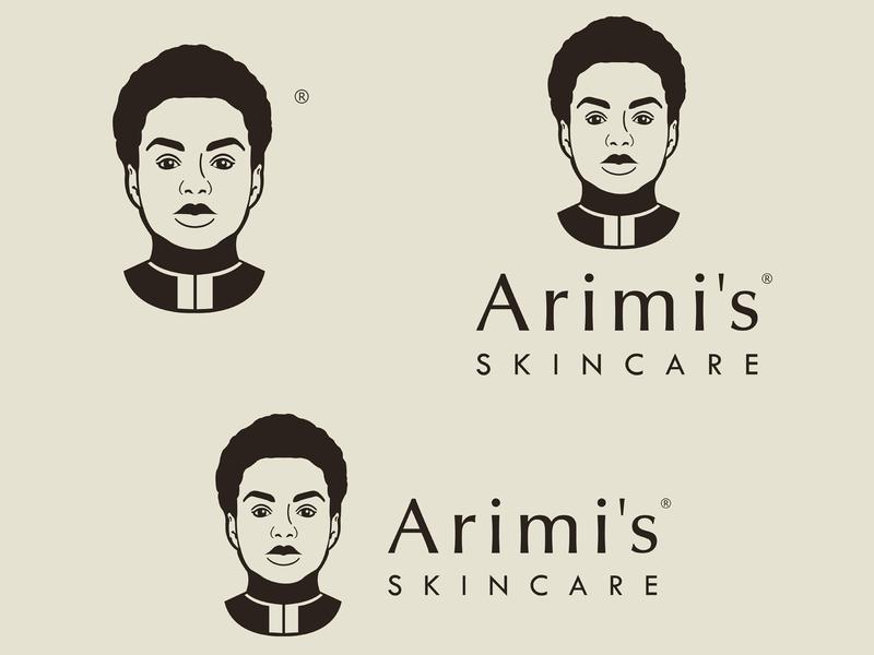 Arimis Skincare Logo Variations skincare arimis illustration logo design logo