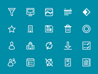 Icons set for BtoB software