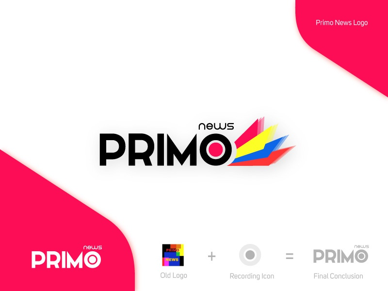 Primo News - Logo design website media logo media branding brand primo news logo design primo news news primo logo design design logo
