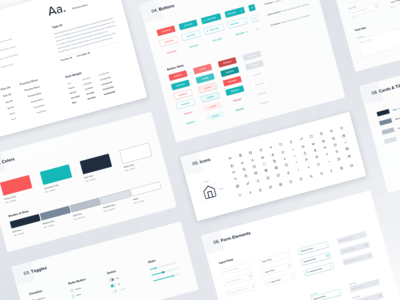 Design System | Style Guide library design language component library guidelines flat branding grid layout forms icons color typogaphy buttons interface ui wireframe app design webdesign style guide design system