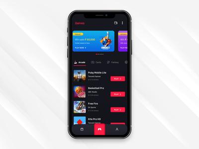 Gaming app design iphone mobile vector app design icon typography flat app minimal ux ui design