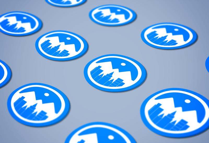 Stickers mockup