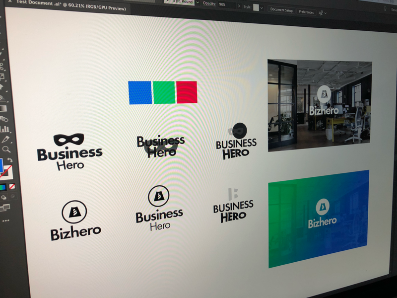 A hero for your business. hero. business logo colours wip brand