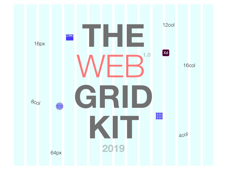 2019 Web Grid - UI Kit ux ui ui  ux design adobe adobe xd grid grid layout ui kit website web