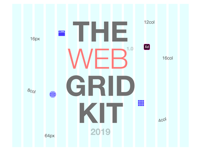 2019 Web Grid - UI Kit ux ui ui  ux design adobe adobe xd grid grid layout ui kit website web