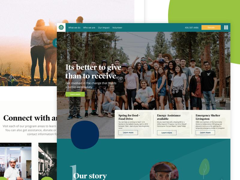 Non Profit Work non profit typography grid interface ui web website design colours