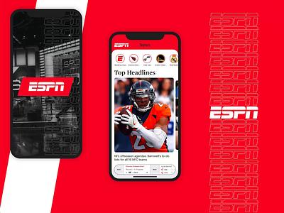 #DesignAnExperience - ESPN App mobile ux design ios ux  ui design app espn