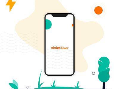 #DesignAnExperience - Vivint Solar App uxui energy clean solar vivint solar ios animation ui illustration app colours