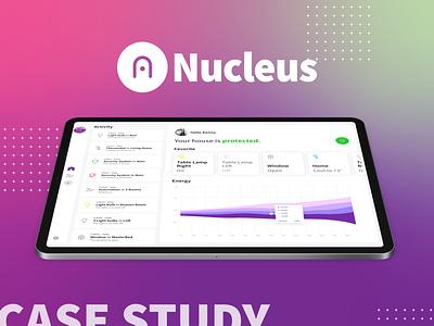 Nucleus Case Study science ipad pro ios logo identity app casestudy behance