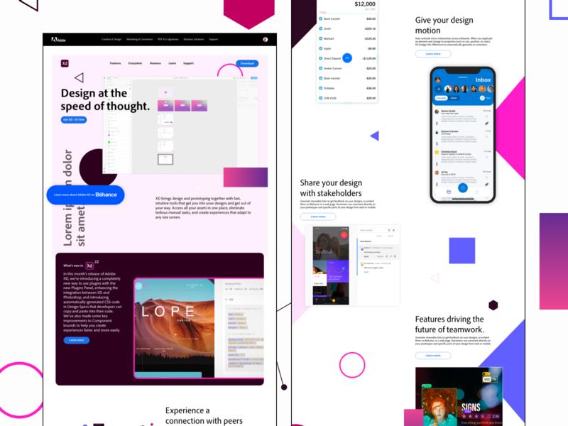 #DesignAnExperience - Adobe XD website