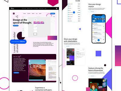 #DesignAnExperience - Adobe XD website experience website design typography color web website design uidesign ux ui