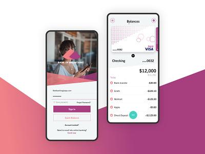Banking App UI bank bank card bank app banking app money banking ios app ios ui app brand design