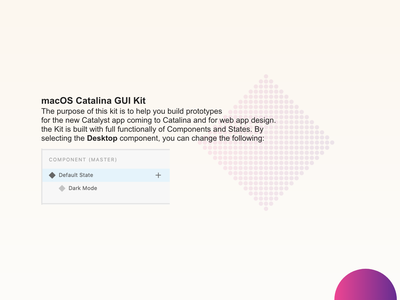 Freebie - Adobe XD Catalina GUI with Light and Dark Mode. design colours download free ui 10.15 catalina macos uikit adobexd