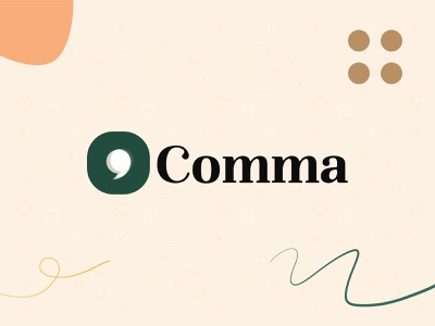 Brand Exploration - Comma illustration branding logo ui app identity brand