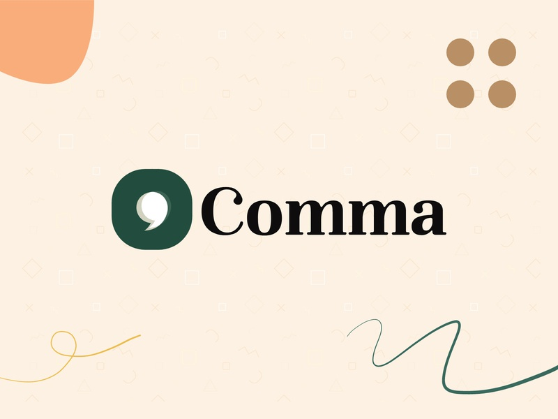 Brand Exploration - Comma illustration branding logo ui app identity brand