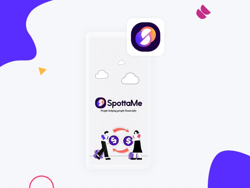 SpottaMe App and Brand neumorphism colours branding illustration ux ui identity logo app brand design