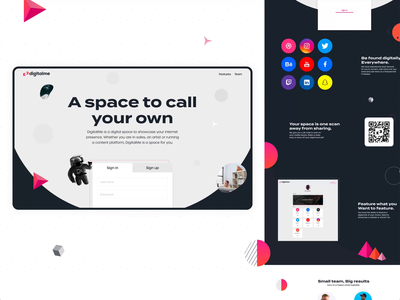 DigitalMe.Space Website typography illustration animation branding ui web website design brand colours